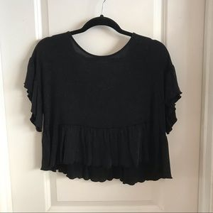 Boutique black slightly cropped top